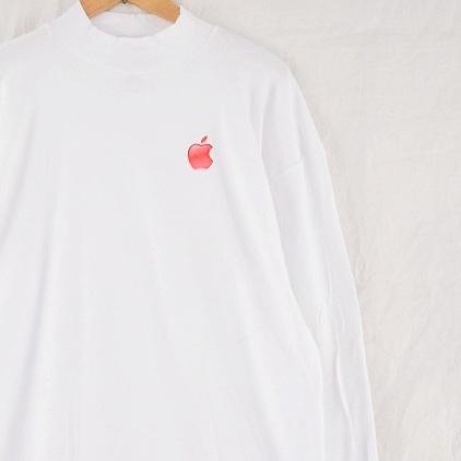 画像1: 2000's Apple USA製 モックネック ロゴロンT 2XL (1)