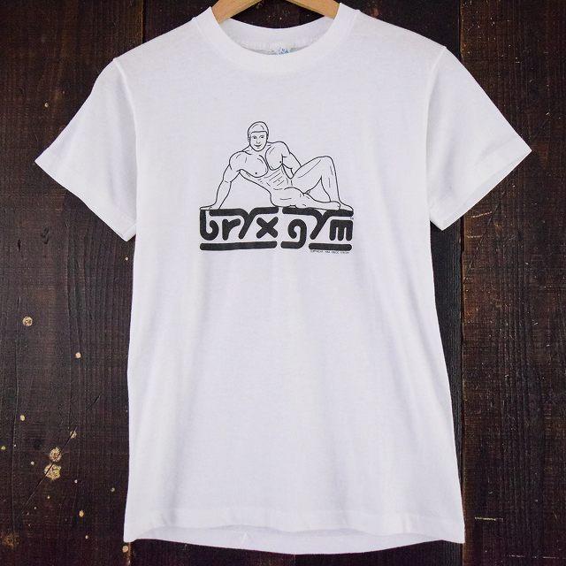 """画像1: 80's USA製 """"bryx gym"""" プリントTシャツ (1)"""