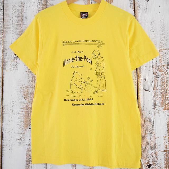 """画像1: 90's USA製 """"Winnie the Pooh"""" スクールミュージカルTシャツ  (1)"""