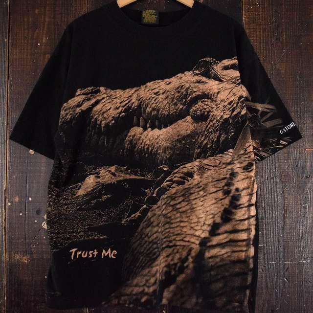 """画像1: GATORLAND """"Trusu Me"""" フォトプリントワニTシャツ XL (1)"""