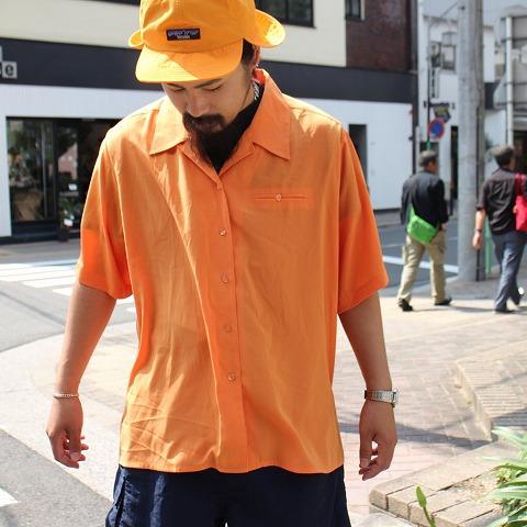 画像1: タックデザイン カラー開襟シャツ (1)