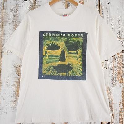 画像1: 90's CROWDED HOUSE USA製 バンドツアーTシャツ (1)