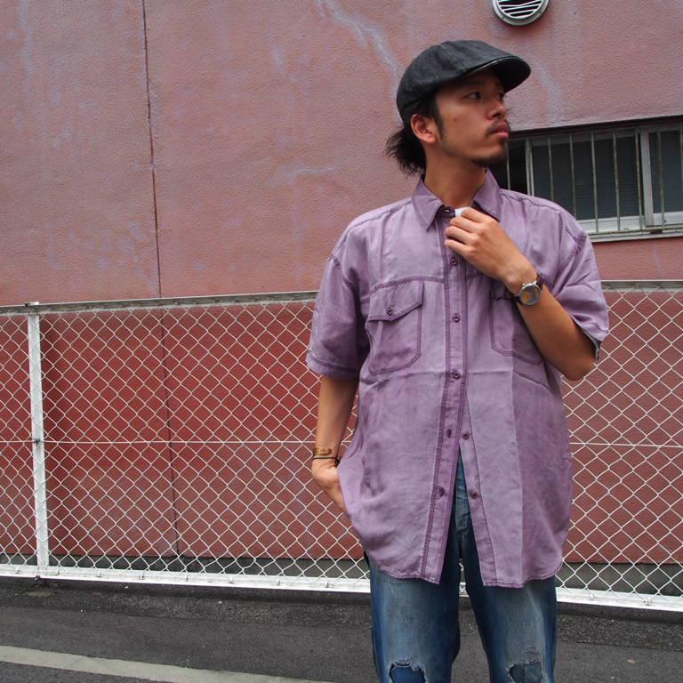 画像1: カラーシルクシャツ (1)