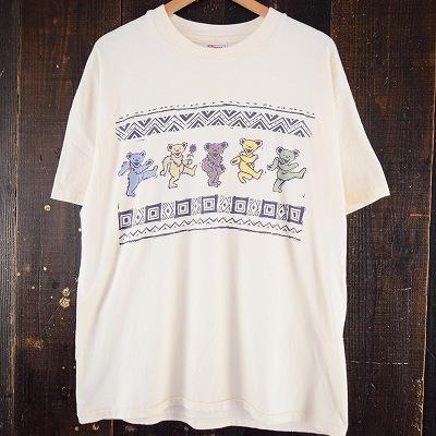 画像1: 90's GRATEFUL DEAD USA製 デッドベアTシャツ XL (1)