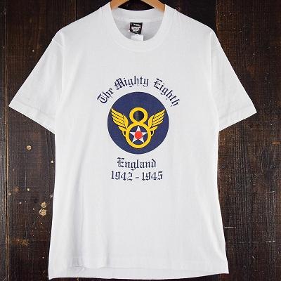 画像1: 90's 第8空軍 USA製 ロゴプリントTシャツ (1)