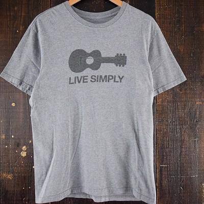 """画像1: Patagonia USA製 """"LIVE SIMPLY"""" プリントTシャツ (1)"""
