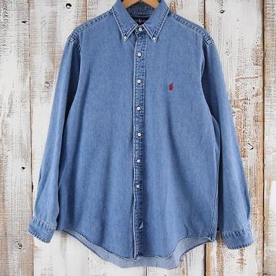 画像1: Ralph Lauren ボタンダウン シャンブレーシャツ (1)