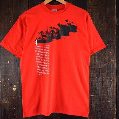 画像1: 天安門事件 メッセージプリントTシャツ (1)