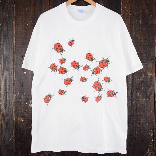 画像1: てんとう虫 イラストプリントTシャツ (1)