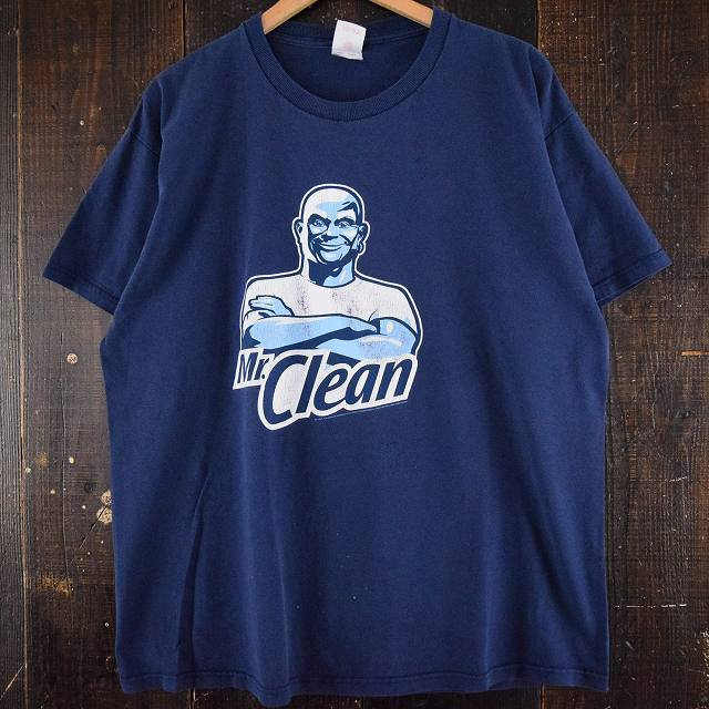 画像1: Mr.Clean 洗剤メーカーキャラクターTシャツ XL (1)