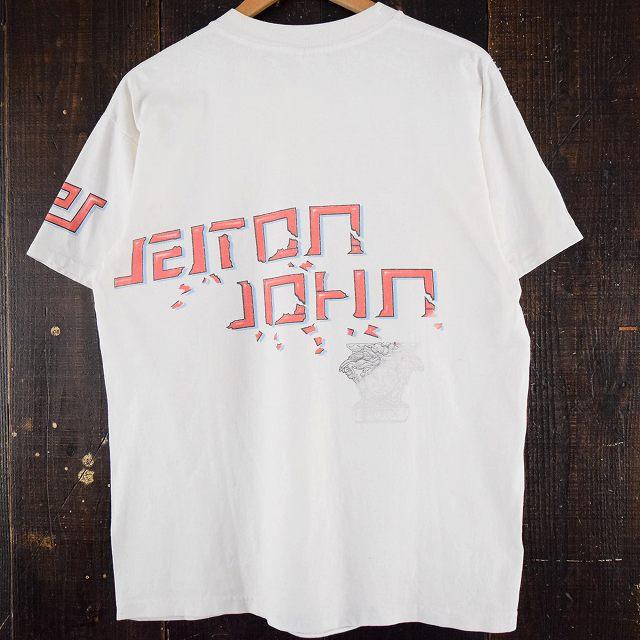 画像1: 90's ELTON JOHN Styled By Versace ミュージシャンTシャツ XL (1)