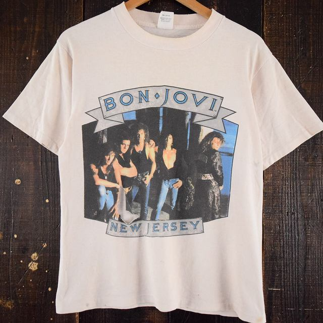 """画像1: 80〜90's BONJOVI USA製 """"The Jersey Syndicate"""" バンドTシャツ (1)"""