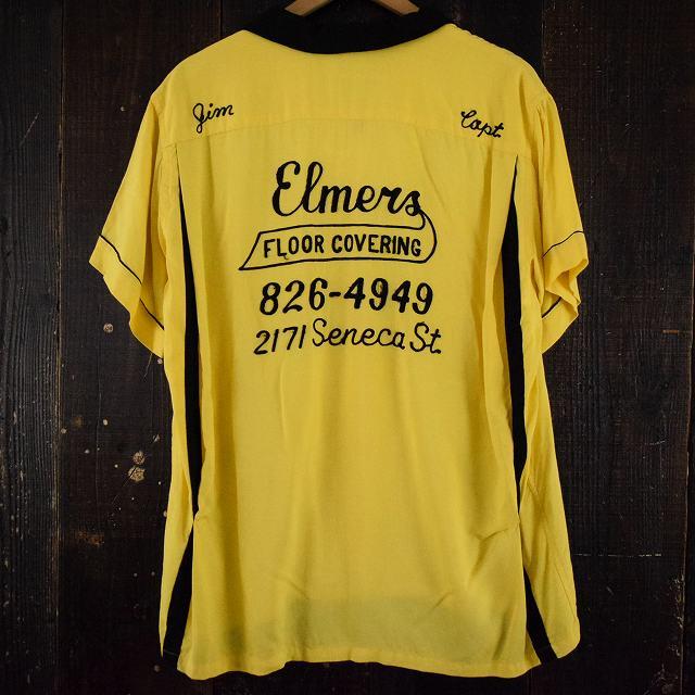 画像1: 50's〜60's Hilton USA製 チェーンステッチ ボーリングシャツ (1)