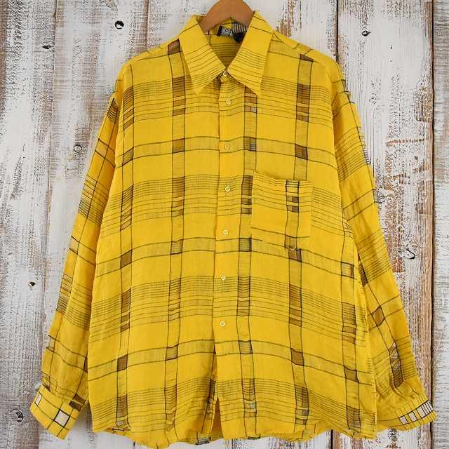 画像1: ITALY製 チェック柄デザインシャツ (1)