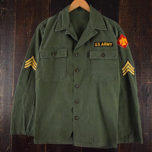 画像1: 60's US.ARMY ユーティリティシャツ 1st パッチ付き (1)
