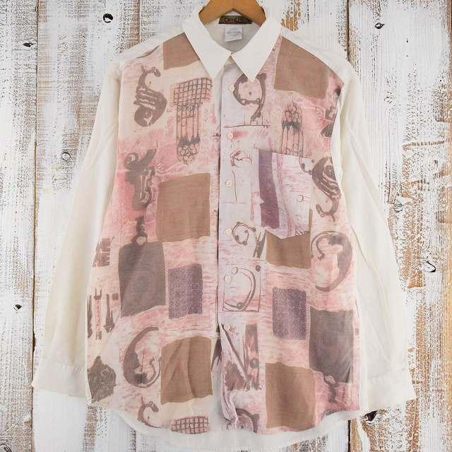 画像1: 切り替えデザインレーヨンシャツ (1)