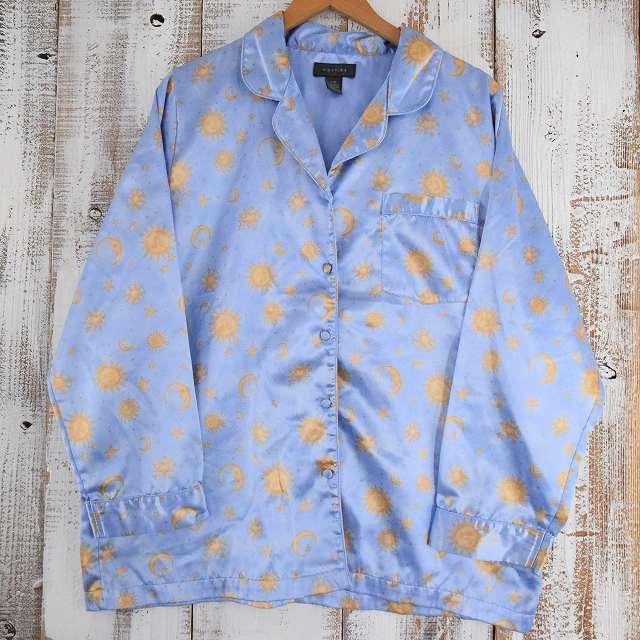 画像1: ファンシープリント パジャマシャツ (1)