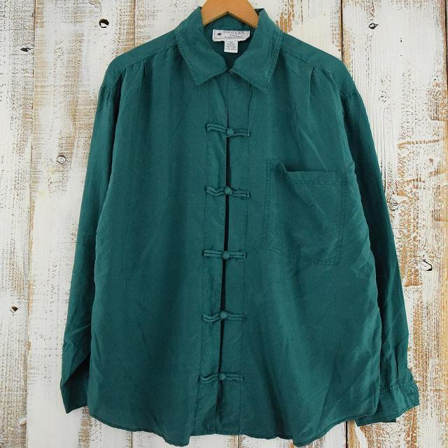 画像1: カラー シルクチャイナシャツ (1)