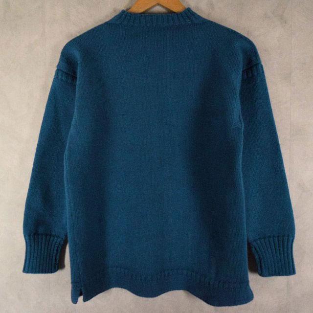 画像1: VINTAGE Guernsey Sweater Blue (1)