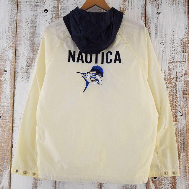 画像1: NAUTICA カジキ刺繍 ナイロンプルオーバージャケット (1)