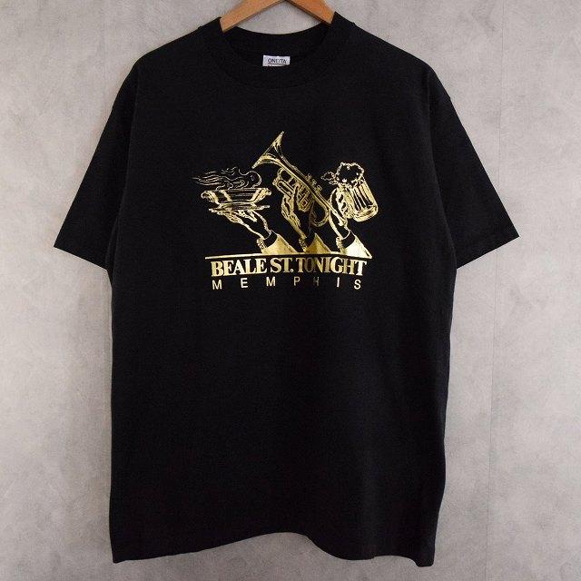 画像1: 90's BEALE ST. TONIGHT MEMPHIS USA製 T-shirt XL (1)
