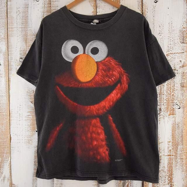 画像1: 90's SESAME STREET USA製  エルモ ホラー風Tシャツ (1)