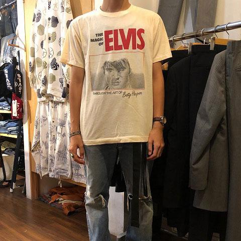 """画像1: 80's """"THE MAGIC OF ELVIS"""" USA製 アートTシャツ (1)"""