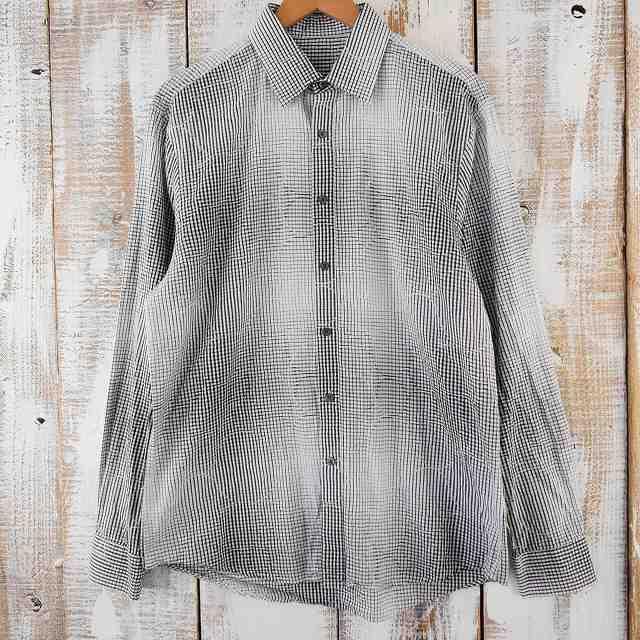 画像1: チェック柄 グラデーションデザインシャツ (1)