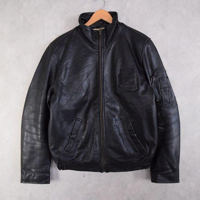 画像1: French Military Leather Pilot Jacket (1)