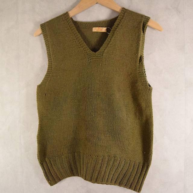 画像1: 40's AMERICAN RED CROSS Wool Knit Vest (1)