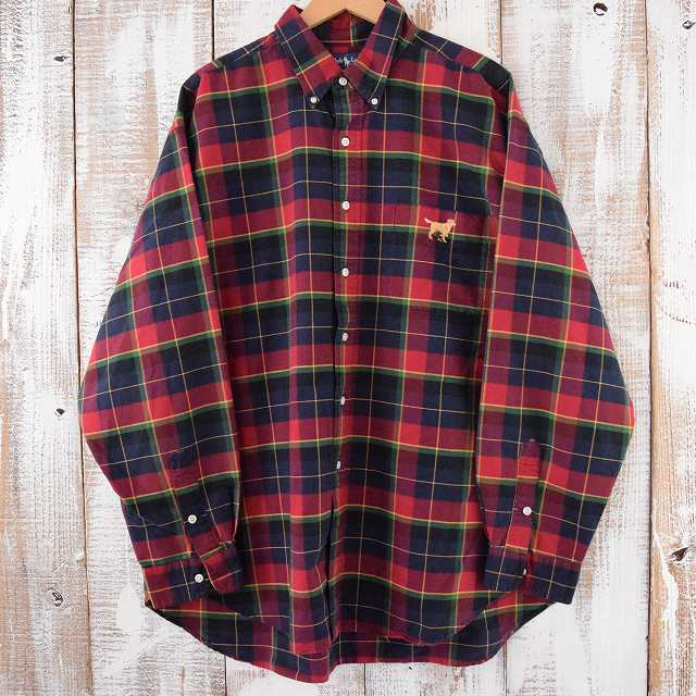 画像1: Ralph Lauren チェック柄 コットンシャツ XXL (1)