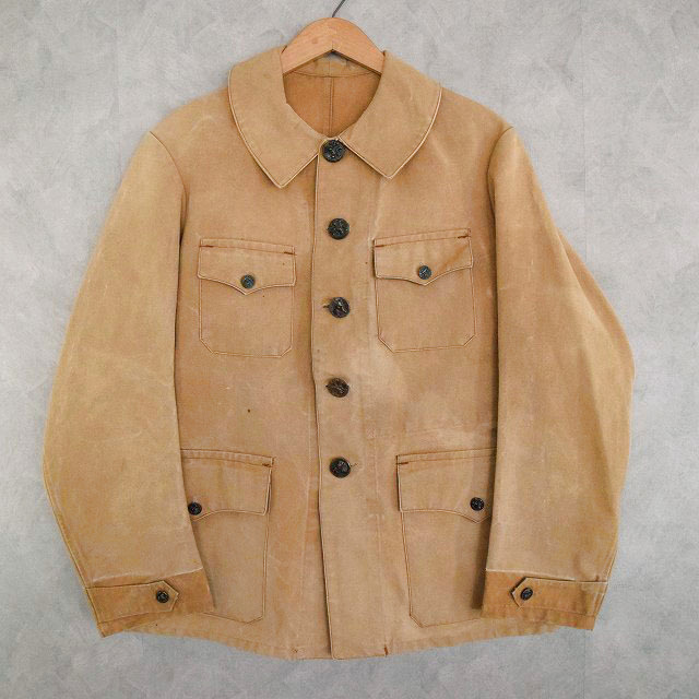 画像1: 40's FRANCE 動物ボタン Hunting Jacket (1)