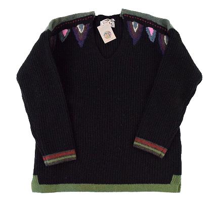 """画像1: ARIGATO FAKKYU """"Wool Knit Sweater"""" BLACK 【S】 (1)"""