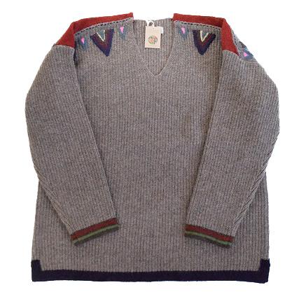 """画像1: ARIGATO FAKKYU """"Wool Knit Sweater"""" BROWN 【M】 (1)"""