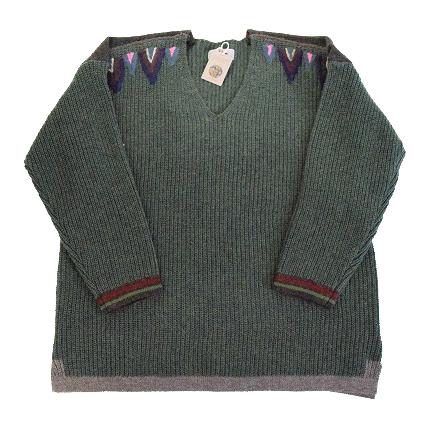 """画像1: ARIGATO FAKKYU """"Wool Knit Sweater"""" GREEN 【M】 (1)"""