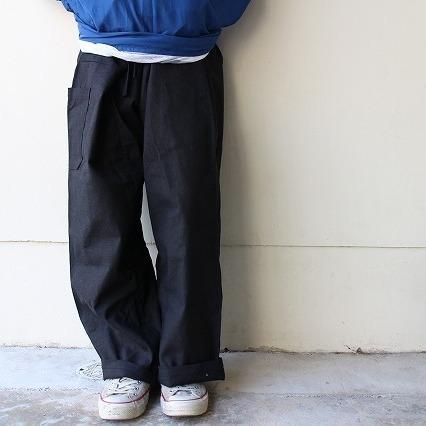 画像1: リメイク 袴パンツ BLACK (1)