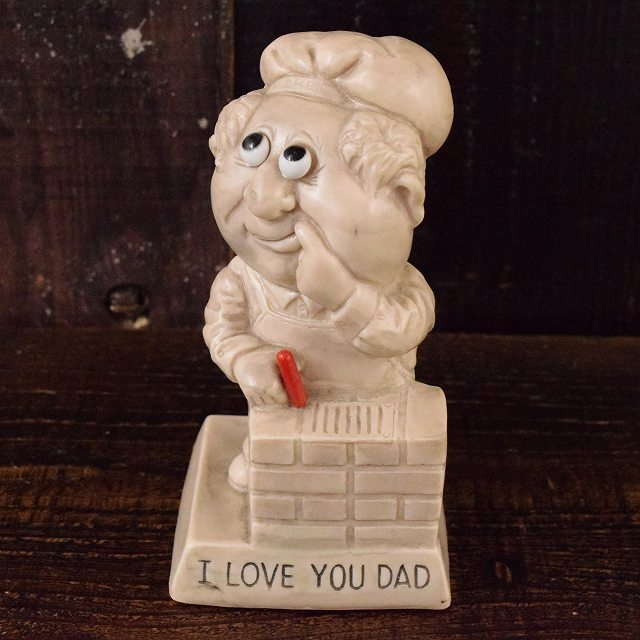 """画像1: 70's """"I love you dad"""" メッセージドール (1)"""
