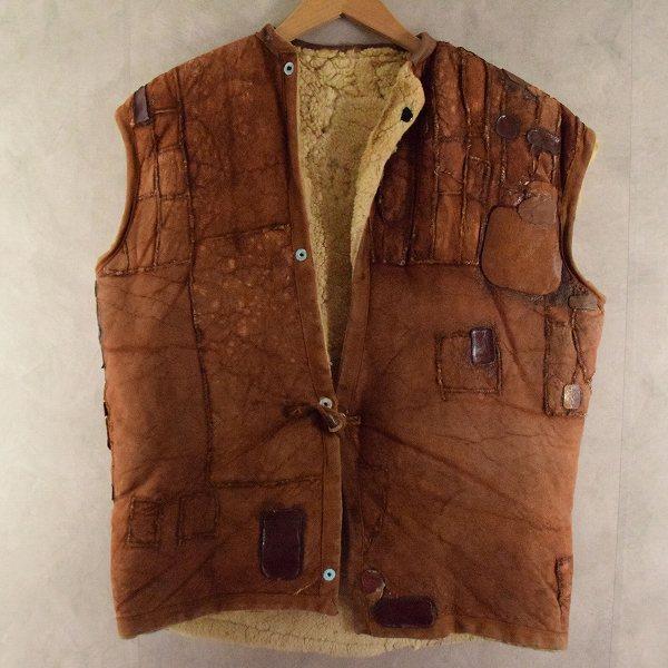 画像1: 40's Sheepskin vest  (1)