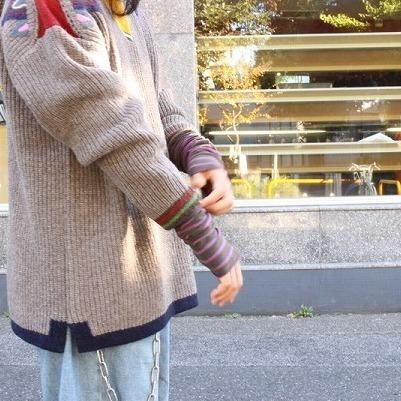 """画像1: ARIGATO FAKKYU """"Leg & Arm Warmer"""" Purple Border (1)"""