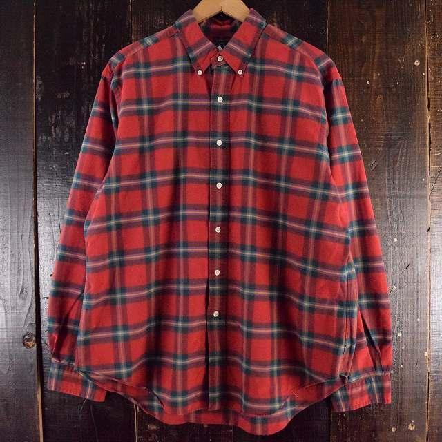 画像1: Ralph Lauren チェック柄 ボタンダウンコットンシャツ XL (1)