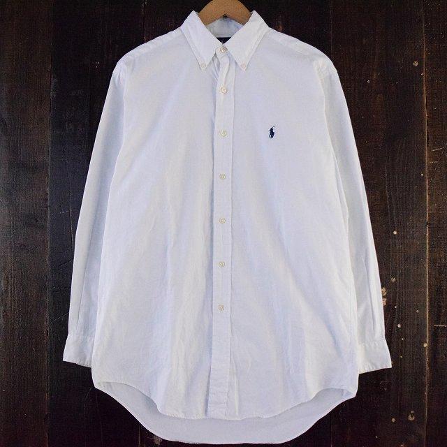 画像1: Ralph Lauren ボタンダウンコットンシャツ (1)