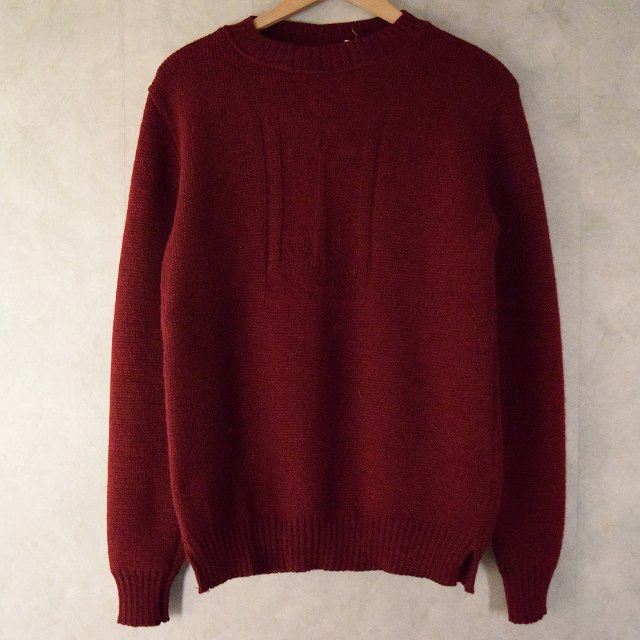画像1: IRELAND製 Anchor Pattern Guernsey Sweater (1)