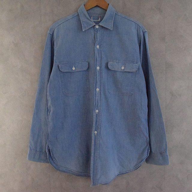 画像1: 50〜60's BIG MAC マチ付き Chambray Shirts (1)