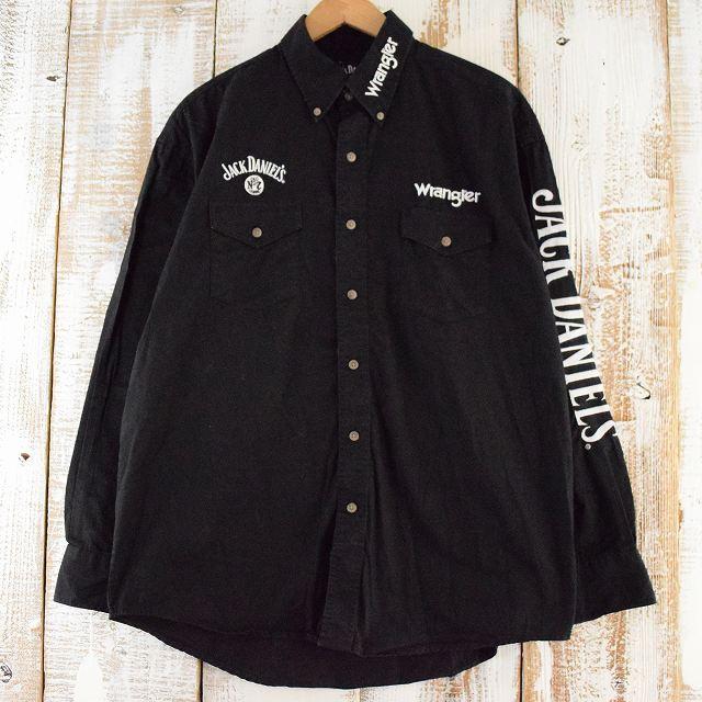 """画像1: Wrangler """"Jack Daniel's"""" 刺繍ボタンダウンシャツ (1)"""