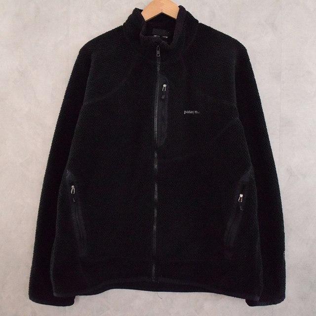 画像1: 2000's Patagonia Rシリーズ R2 POLARTEC Fleece Jacket BLACK (1)