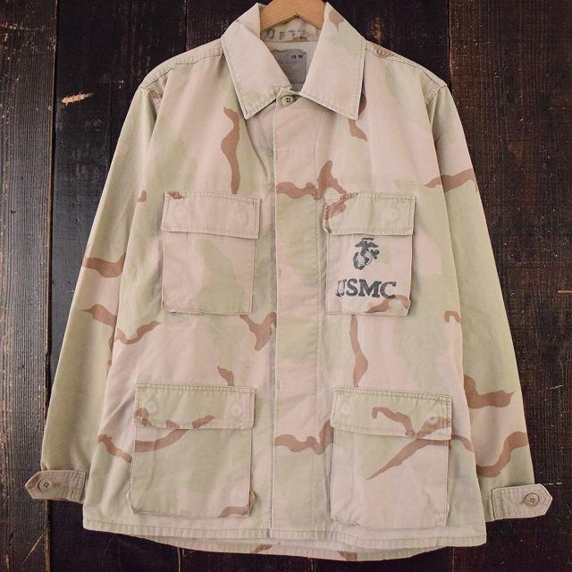 画像1: 90's USMC デザートカモ BDUジャケット MEDIUM-REGULAR (1)