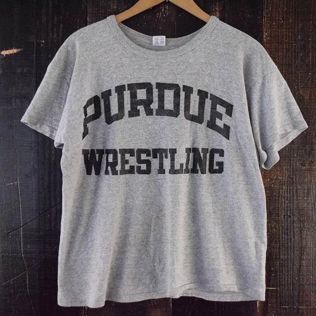"""画像1: 80's Champion """"PURDUE WRESTLING"""" USA製 トリコタグ カレッジTシャツ (1)"""