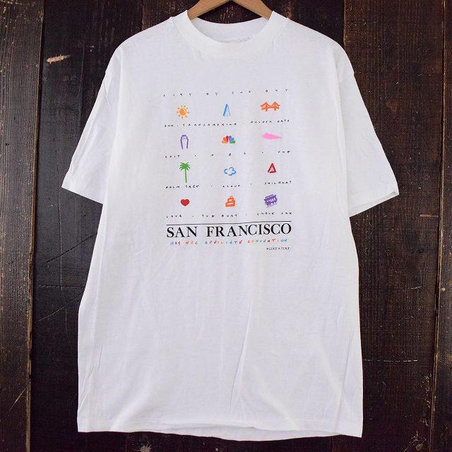 """画像1: 80's Luke-A-Tuke USA製 """"SAN FRANCISCO"""" スーベニアTシャツ XL (1)"""