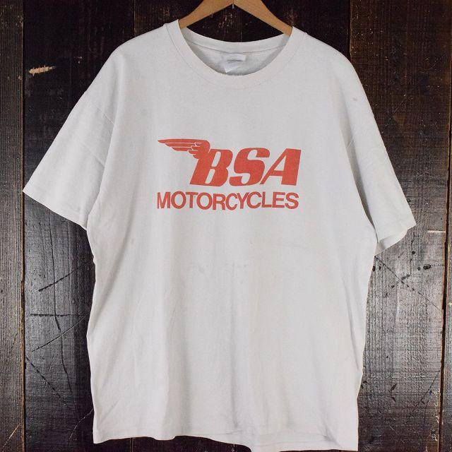 画像1: 90's BSA MOTORCYCLES バイクTシャツ XL (1)