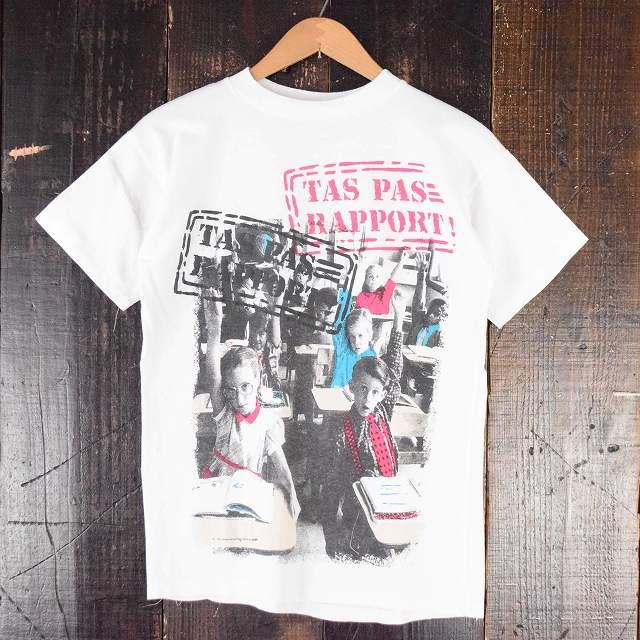"""画像1: 80's CANADA製 """"T'AS PAS RAPPORT"""" プリントTシャツ (1)"""